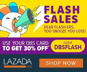 lazada DBS flash sale