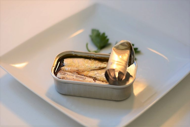 sardines in oil in a can
