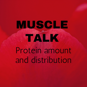Muscle talk: Protein amount and distribution