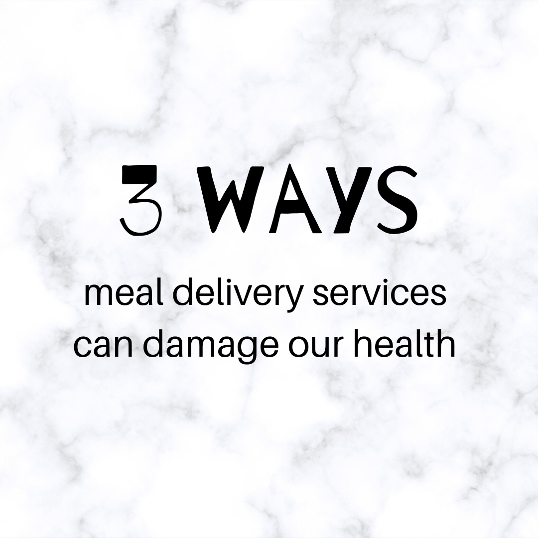 3 ways meal delivery services in Singapore can damage our health